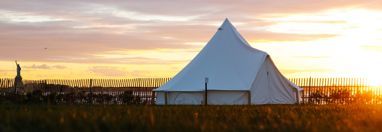 Go Glamping With Views Of The Statue Of Liberty On Governors Island