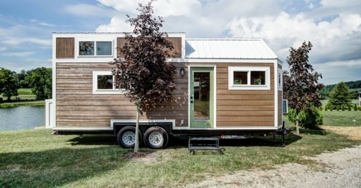 This gorgeous tiny home is perfect for entertaining guests