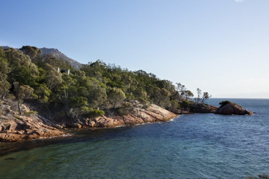view of the Freycinet Peninsula
