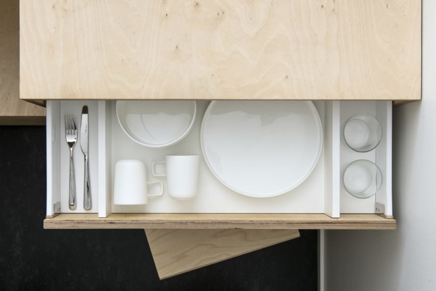 space saving drawer design