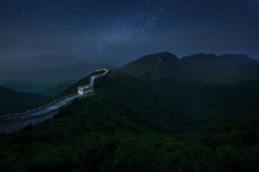great wall landscape shot