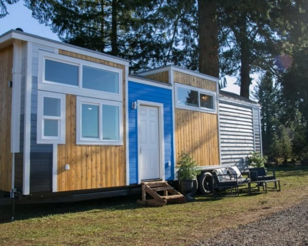 tiny wooden home on wheels