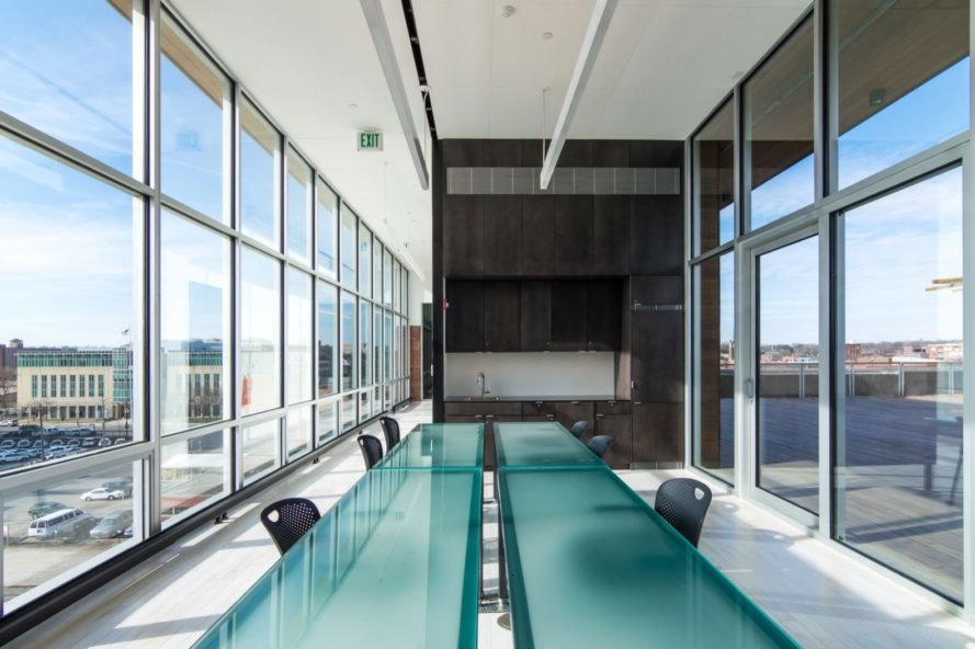 light filled meeting room