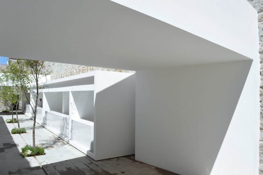 clean minimalist white surfaces