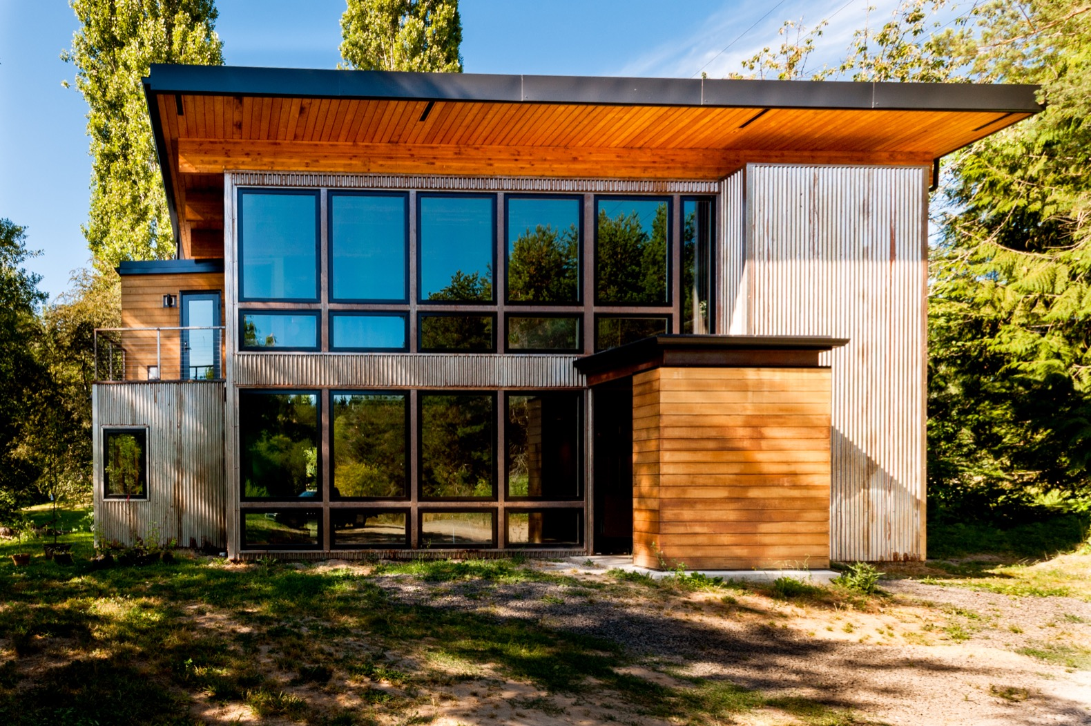 Shipping containers inspire a light-filled musician's home