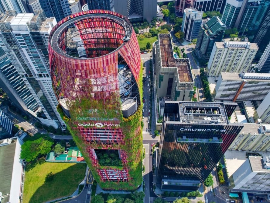 New images show greenery engulfing Singapores tropical skyscraper