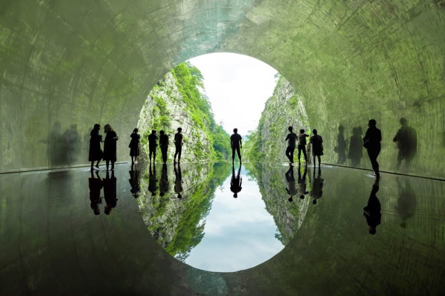 MAD reactivates an abandoned Japanese tunnel using surreal immersive art