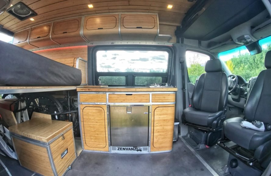 interior of converted van