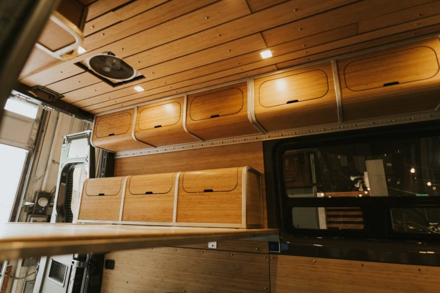 storage space in converted van
