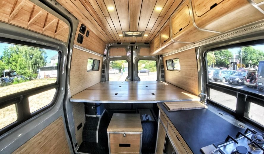 living space in converted van
