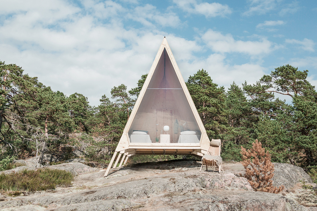 Embrace sustainable travel in this solar-powered A-frame cabin