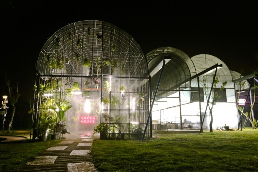 A greenhouse is transformed into experimental living space