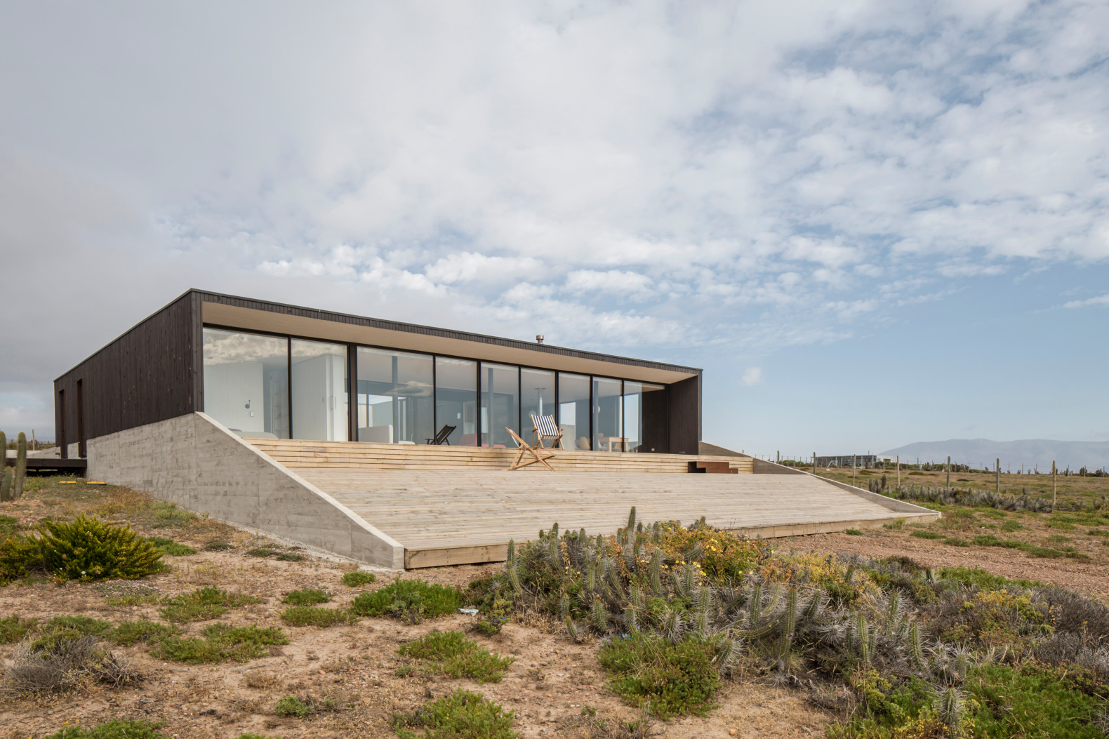 This sustainable home in Chile is designed as an 'unplugged' retreat for a family of six