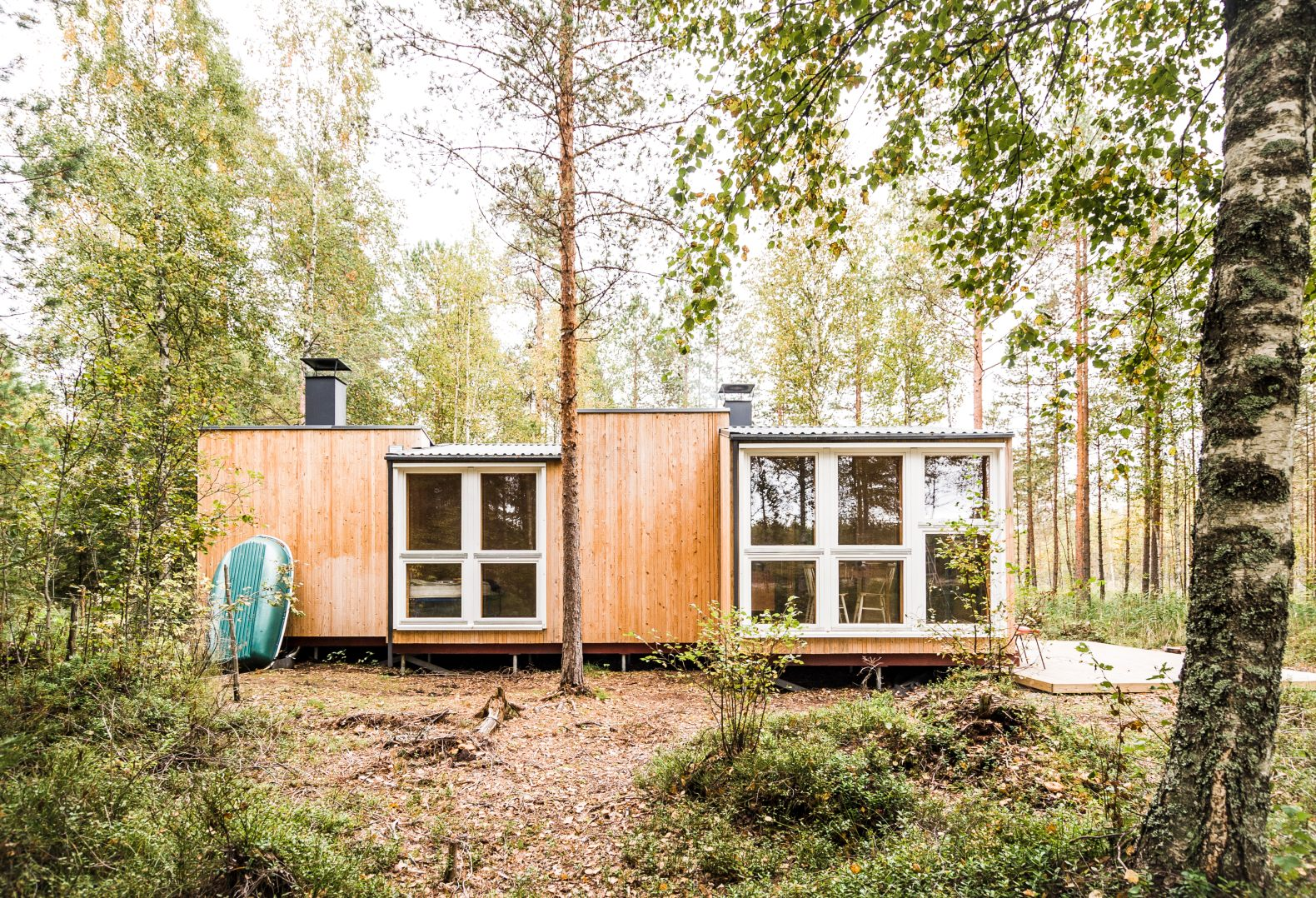 Two design students build a charming, off-grid summer cabin in a remote Finnish forest