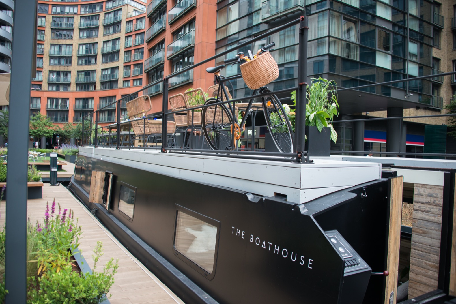 Stow away on this stylish, minimalist floating hotel in London