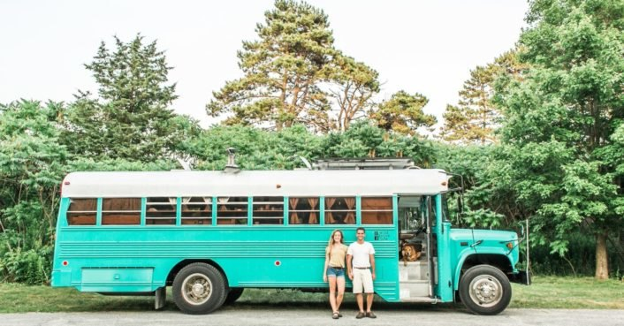 A couple converts an old prison bus into a criminally beautiful