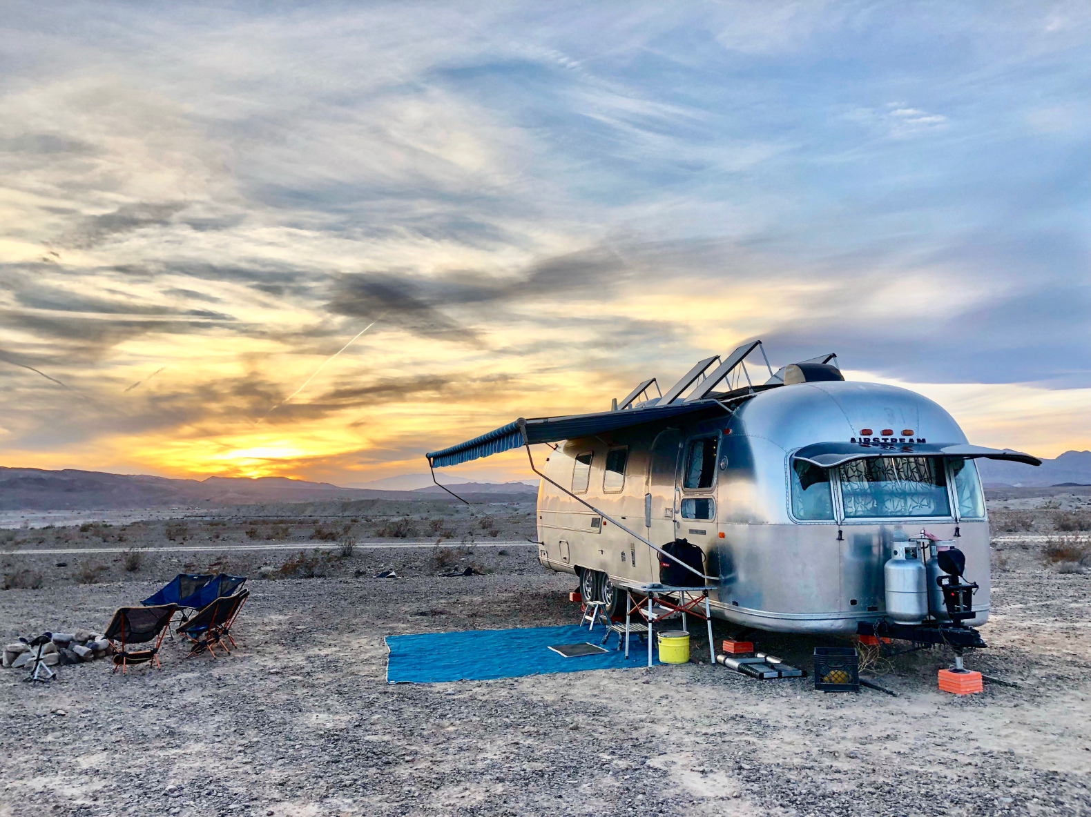 This 1970s Airstream is an off-grid oasis for a family of six