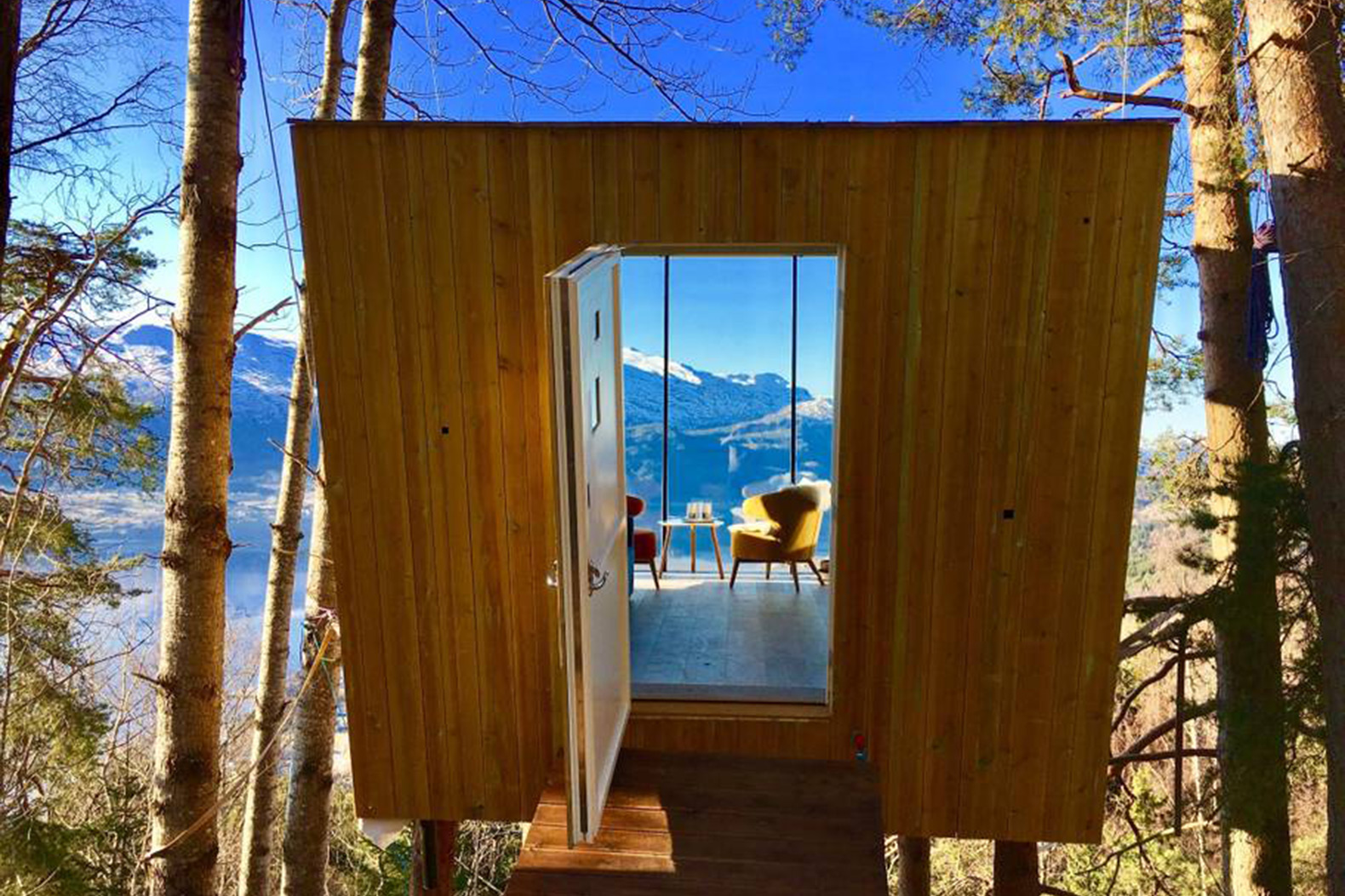 This itsy-bitsy treehouse in Norway offers the ultimate off-grid escape