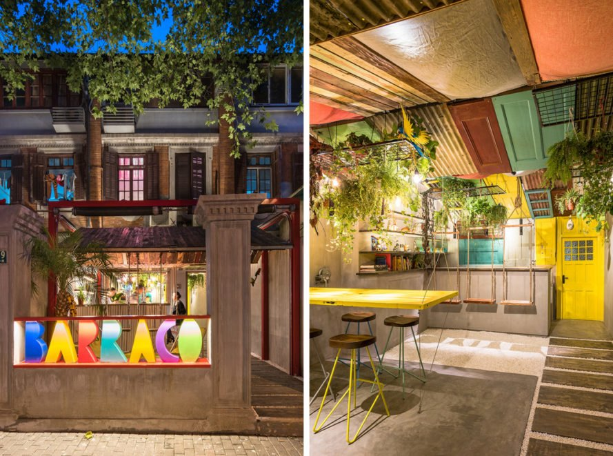 Quirky Shanghai Bar Is Built From Vibrant Recycled Materials