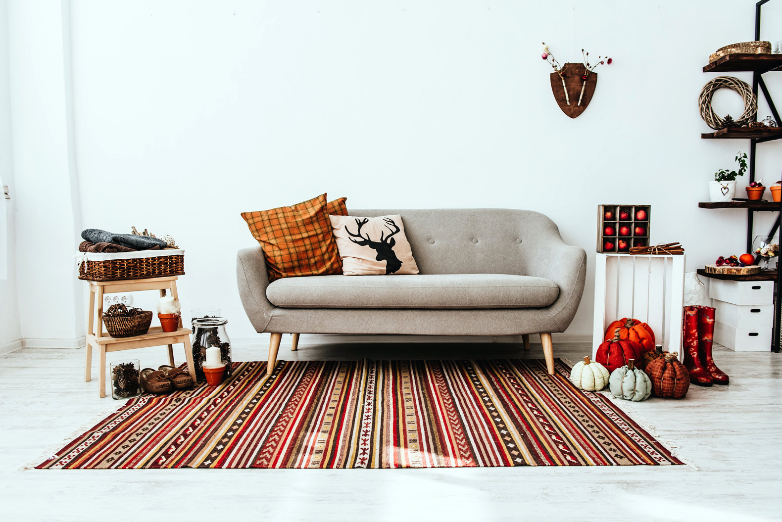 DIY fall decor using upcycled items from thrift stores
