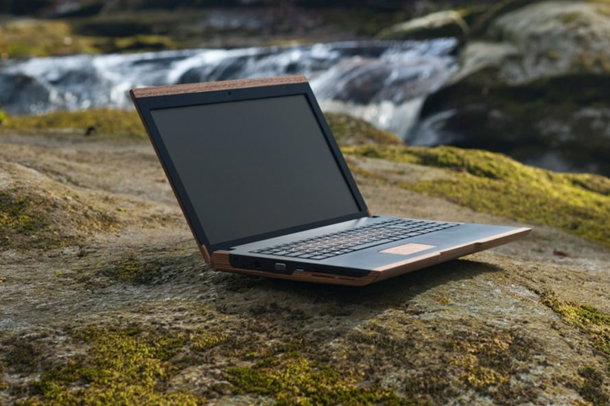 This eco-friendly wooden laptop is designed to curb e-waste