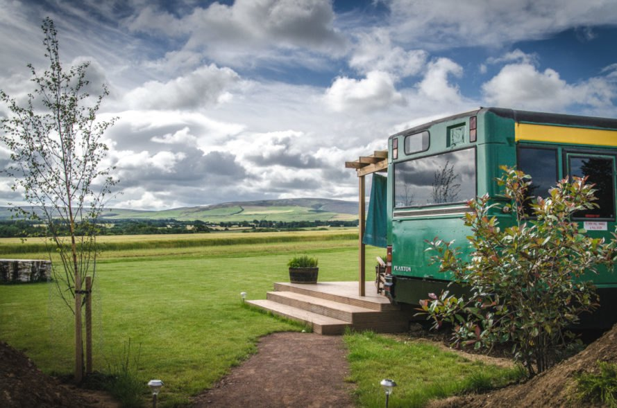 This gorgeous converted bus hotel in Scotland pulls out all