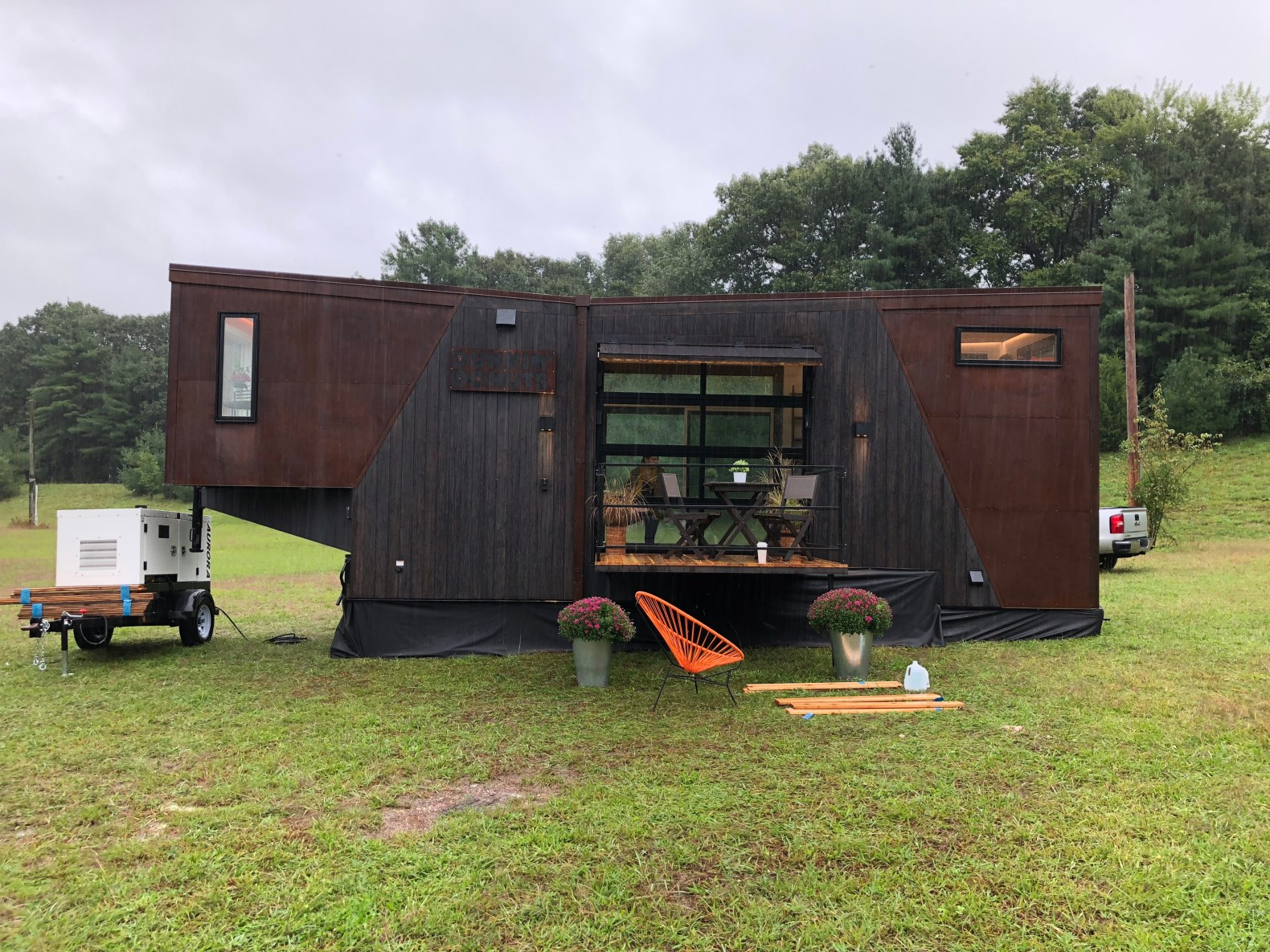Dunkin' Donuts unveils a tiny home powered by recycled coffee grounds