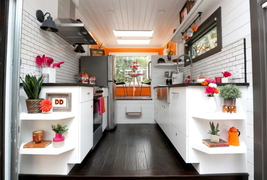 kitchen space with white walls and ceiling