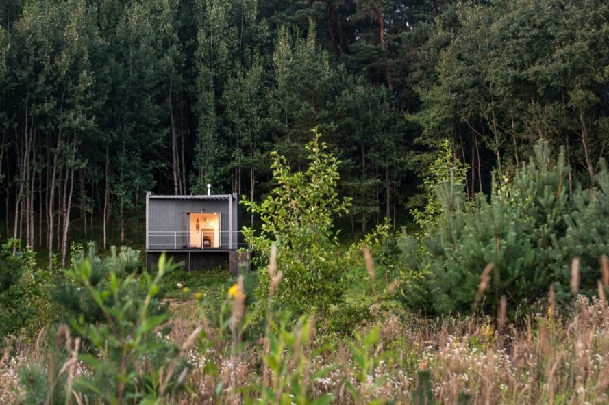 Get away from it all in this tiny hut tucked into a Lithuanian forest