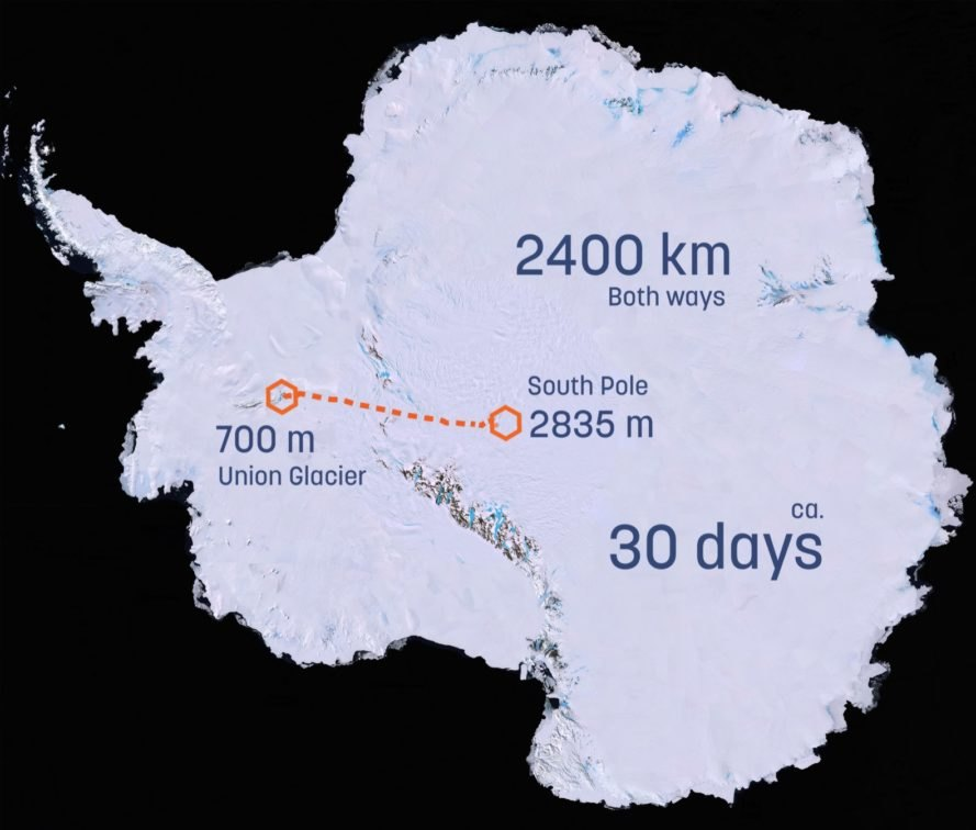map of Antarctica and South Pole
