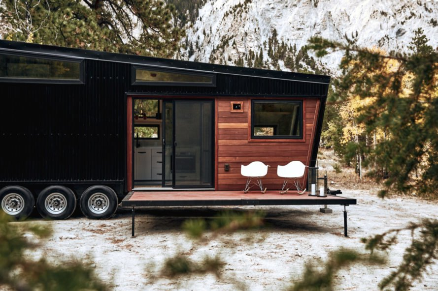 This jet black RV is designed for intrepid travelers who like to explore in style