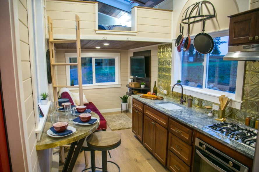 kitchen with wood cabinets and granite countertops
