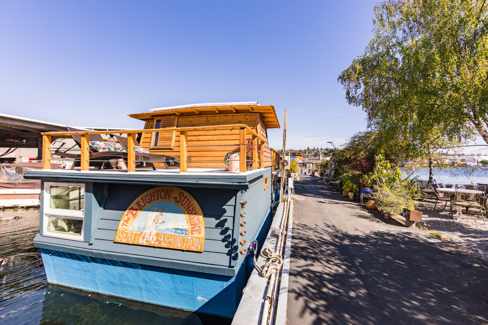 A gorgeous houseboat with a shockingly spacious interior can be yours for $375K