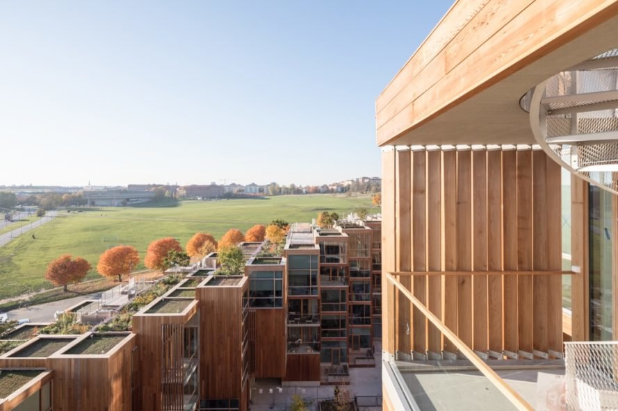 green roofs topping wood apartments