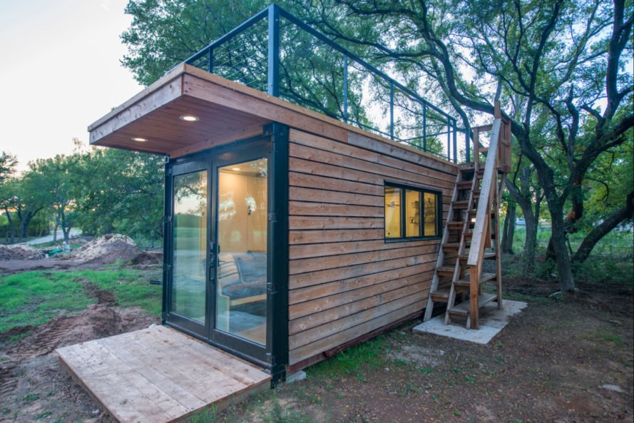 This Tiny Home With A Rooftop Deck Is Made From Two Shipping Containers