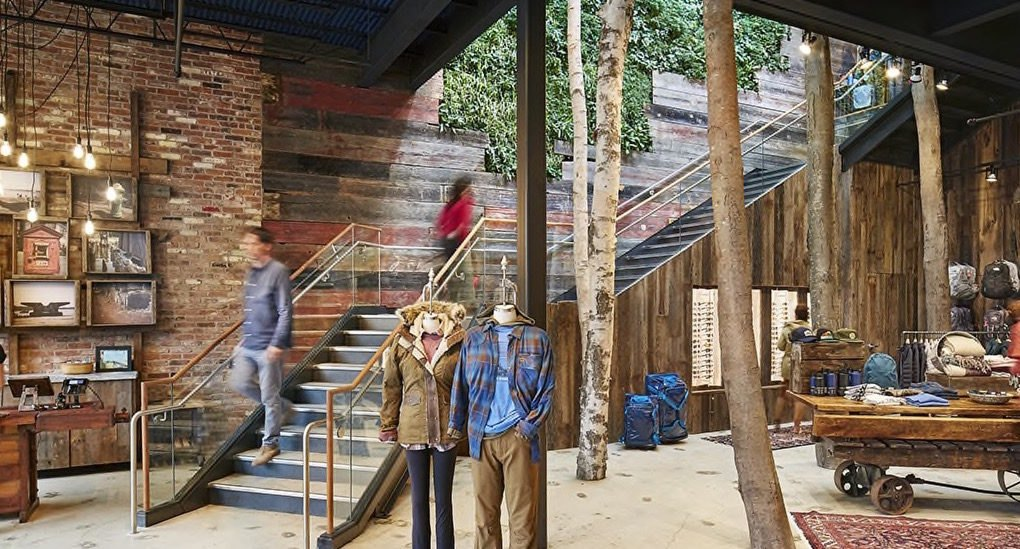 Retail Store Made Of Reclaimed Materials Features Huge