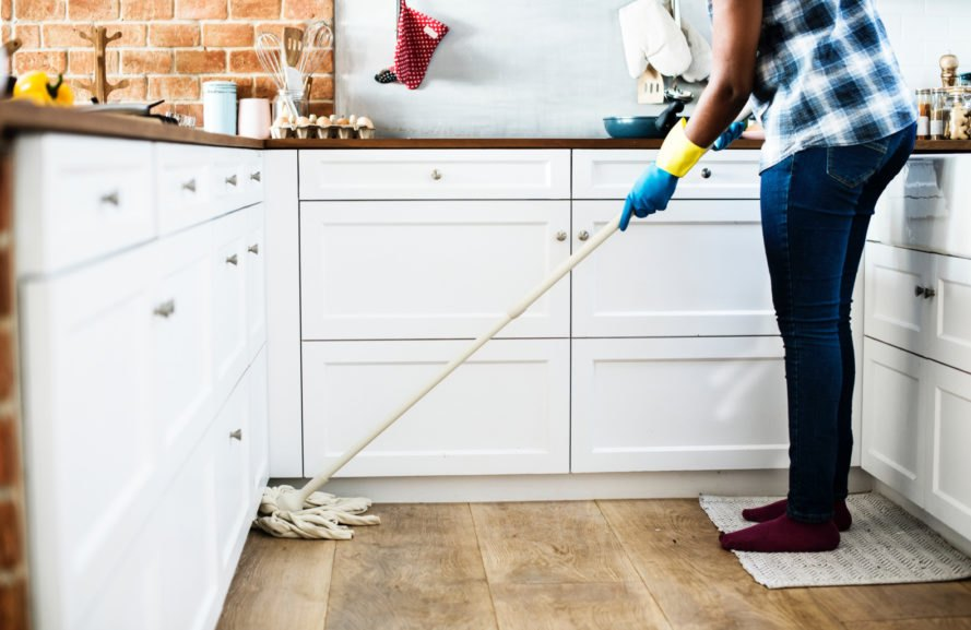 Mopping wooden floors