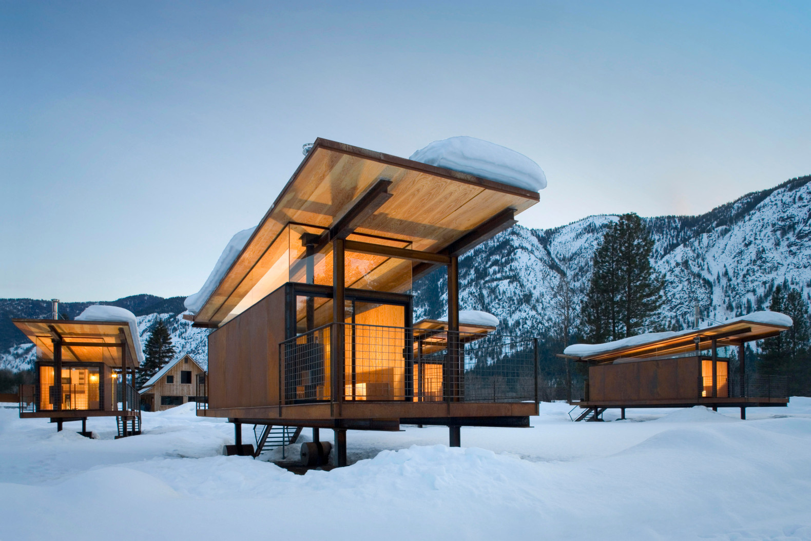 Olson Kundig breathes new life into former RV campground with low-impact huts on wheels