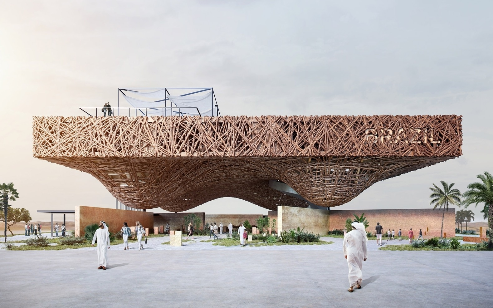 Energy-producing pavilion proposal for Expo 2020 mimics Brazil's biomes