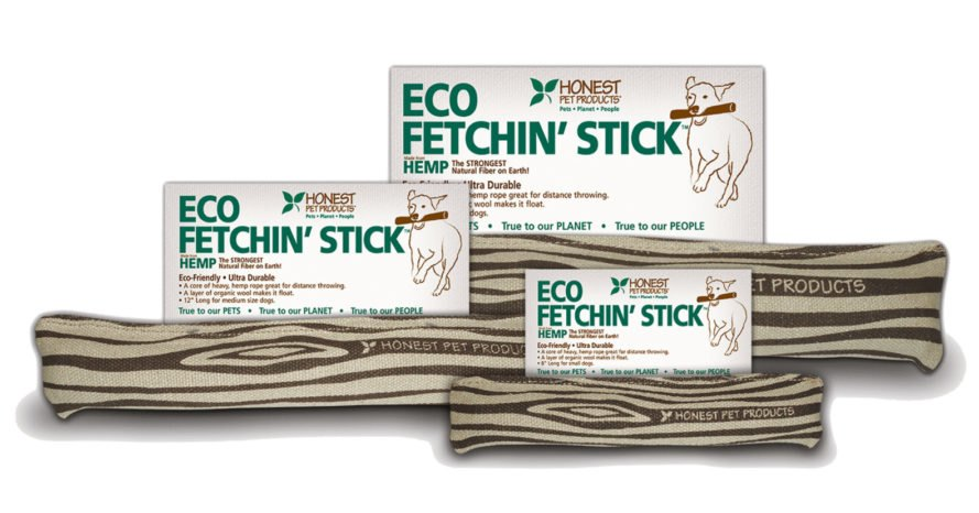 Three tan chew toys shaped like sticks