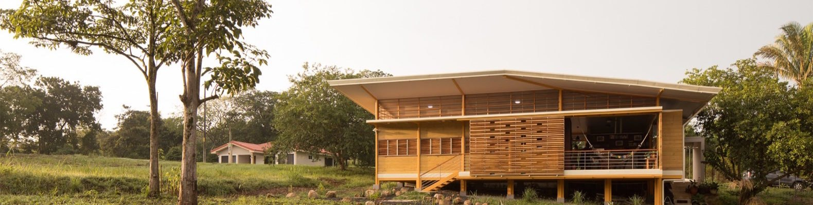timber home on stilts