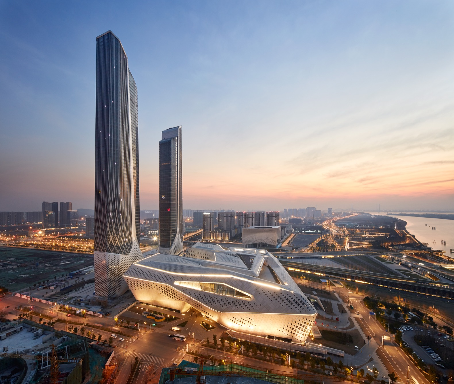 Zaha Hadid Architects completes highly complex Nanjing International Youth Cultural Centre