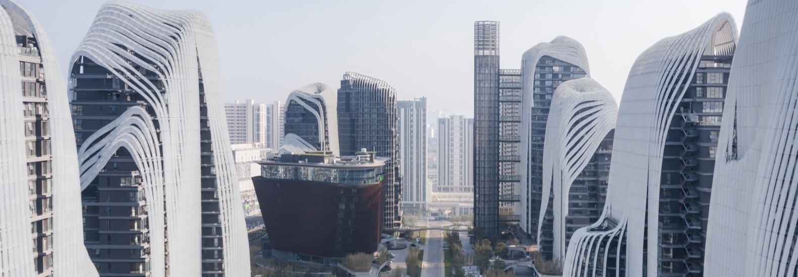 MAD Architects' curvaceous Himalayas Center nears completion in Nanjing