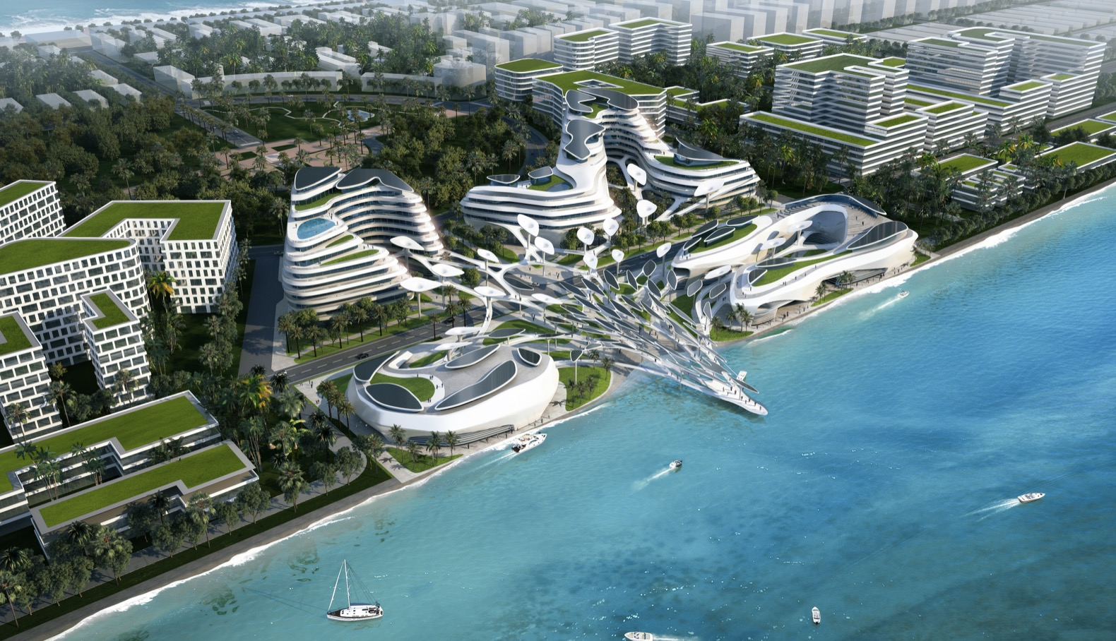 Futuristic eco-city powered with renewable energy is unveiled for the Maldives
