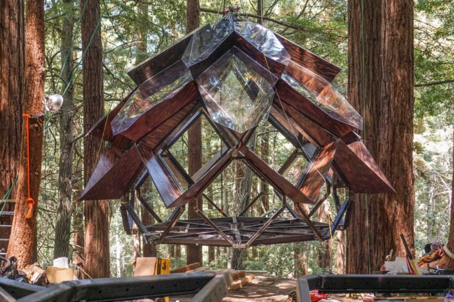 pinecone shaped treehouse