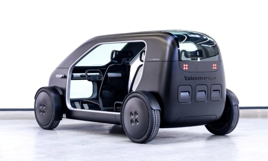 electric car with open doors