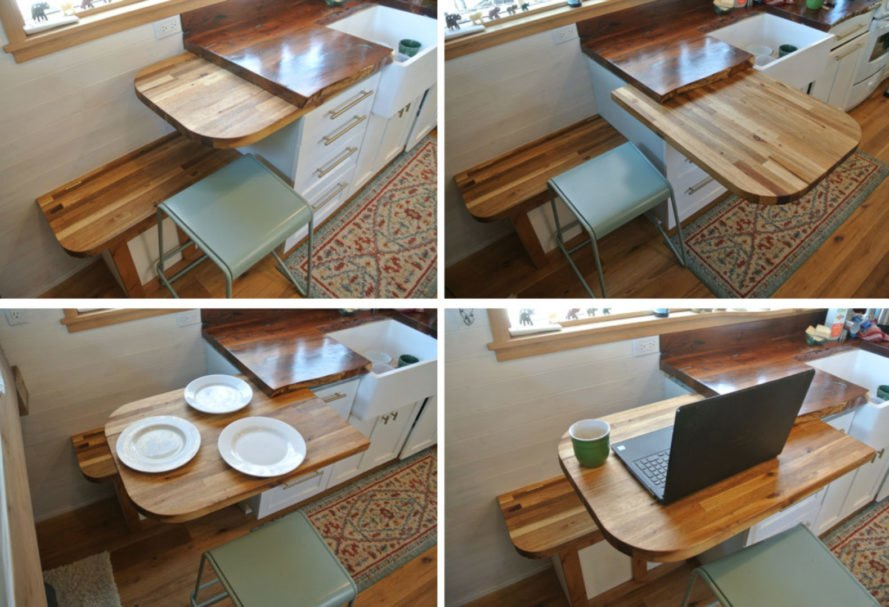custome made slide out table top