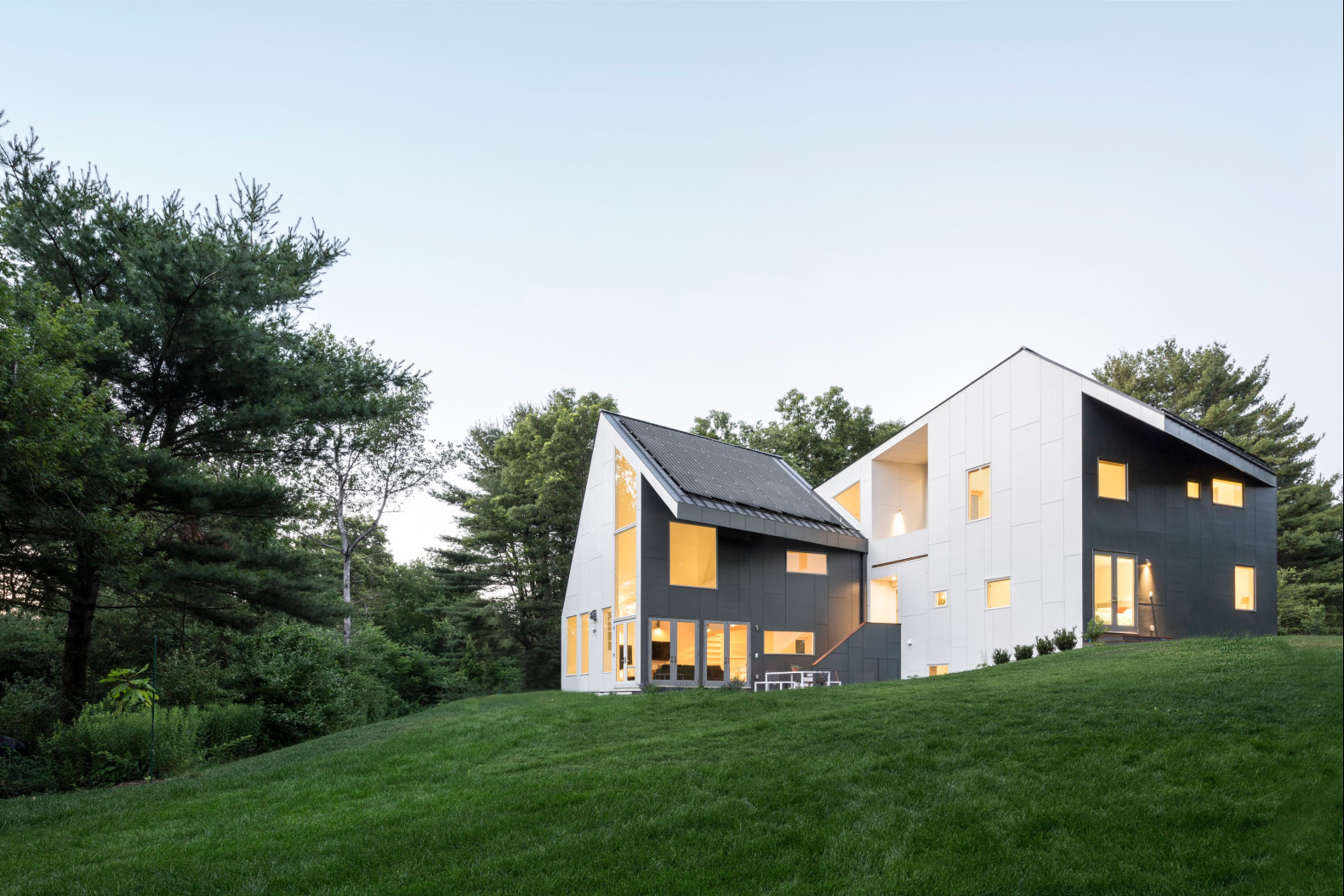 Net-zero home is designed to blend in with its natural, protected landscape