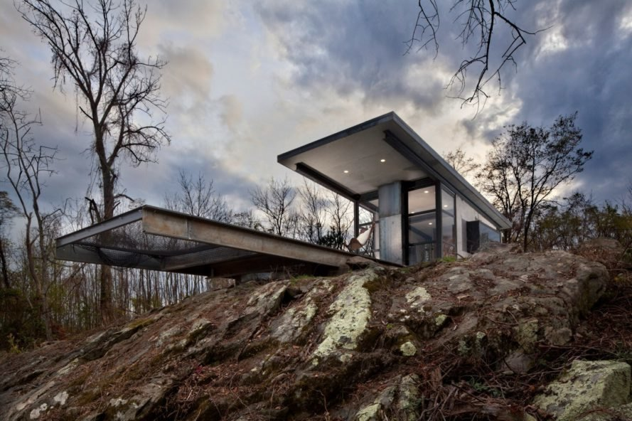 Get away from it all in this off-grid concrete cabin just steps away from the Appalachian Trail