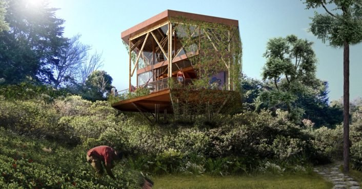 Stunning eco-resort in Colombia built out of compressed-earth blocks and bamboo